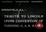 Image of Civil War Veterans gathering Illinois United States USA, 1932, second 1 stock footage video 65675030535