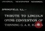 Image of Civil War Veterans gathering Illinois United States USA, 1932, second 2 stock footage video 65675030535
