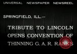 Image of Civil War Veterans gathering Illinois United States USA, 1932, second 3 stock footage video 65675030535