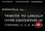 Image of Civil War Veterans gathering Illinois United States USA, 1932, second 4 stock footage video 65675030535