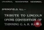 Image of Civil War Veterans gathering Illinois United States USA, 1932, second 5 stock footage video 65675030535