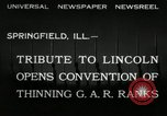 Image of Civil War Veterans gathering Illinois United States USA, 1932, second 6 stock footage video 65675030535