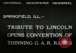 Image of Civil War Veterans gathering Illinois United States USA, 1932, second 8 stock footage video 65675030535