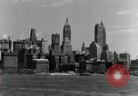 Image of Manhattan and UN Headquarters construction New York City USA, 1948, second 4 stock footage video 65675030574