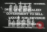 Image of alcohol prohibition repealed Helsinki Finland, 1932, second 1 stock footage video 65675030582