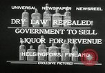 Image of alcohol prohibition repealed Helsinki Finland, 1932, second 3 stock footage video 65675030582