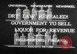Image of alcohol prohibition repealed Helsinki Finland, 1932, second 5 stock footage video 65675030582