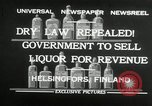 Image of alcohol prohibition repealed Helsinki Finland, 1932, second 6 stock footage video 65675030582