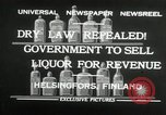Image of alcohol prohibition repealed Helsinki Finland, 1932, second 7 stock footage video 65675030582