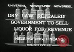 Image of alcohol prohibition repealed Helsinki Finland, 1932, second 8 stock footage video 65675030582