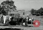 Image of Truck loaded with hay Saint Clairsville Ohio USA, 1940, second 37 stock footage video 65675030604