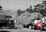 Image of Truck loaded with hay Saint Clairsville Ohio USA, 1940, second 46 stock footage video 65675030604