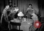 Image of farm family in evening Saint Clairsville Ohio USA, 1940, second 58 stock footage video 65675030605
