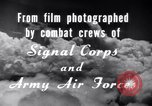 Image of B-24 Liberator aircraft on bombing run Germany, 1945, second 27 stock footage video 65675030615