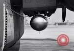 Image of B-24 experiment refueling a P-38 drop tank in flight Wilmington Delaware USA, 1944, second 30 stock footage video 65675030619