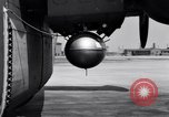 Image of B-24 experiment refueling a P-38 drop tank in flight Wilmington Delaware USA, 1944, second 38 stock footage video 65675030619
