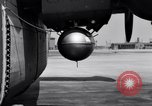 Image of B-24 experiment refueling a P-38 drop tank in flight Wilmington Delaware USA, 1944, second 39 stock footage video 65675030619