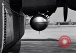 Image of B-24 experiment refueling a P-38 drop tank in flight Wilmington Delaware USA, 1944, second 40 stock footage video 65675030619
