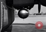Image of B-24 experiment refueling a P-38 drop tank in flight Wilmington Delaware USA, 1944, second 41 stock footage video 65675030619