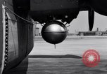 Image of B-24 experiment refueling a P-38 drop tank in flight Wilmington Delaware USA, 1944, second 42 stock footage video 65675030619