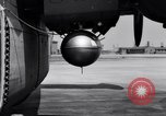 Image of B-24 experiment refueling a P-38 drop tank in flight Wilmington Delaware USA, 1944, second 44 stock footage video 65675030619