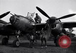 Image of Native tribesmen with P-38 planes New Guinea, 1944, second 8 stock footage video 65675030622