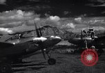 Image of P-38 planes and ground crews of 80th Fighter Squadron Port Moresby New Guinea, 1944, second 4 stock footage video 65675030623