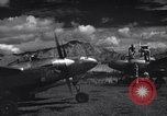 Image of P-38 planes and ground crews of 80th Fighter Squadron Port Moresby New Guinea, 1944, second 5 stock footage video 65675030623