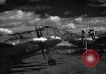 Image of P-38 planes and ground crews of 80th Fighter Squadron Port Moresby New Guinea, 1944, second 7 stock footage video 65675030623