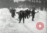 Image of Snow removal at rocket facility Peenemunde Germany, 1943, second 27 stock footage video 65675030646