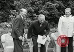 Image of Truman Stalin and Attlee Potsdam Germany, 1945, second 21 stock footage video 65675030652