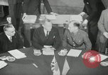 Image of Bevin Byrnes and Molotov Potsdam Germany, 1945, second 21 stock footage video 65675030653