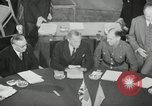 Image of Bevin Byrnes and Molotov Potsdam Germany, 1945, second 22 stock footage video 65675030653