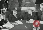 Image of Bevin Byrnes and Molotov Potsdam Germany, 1945, second 24 stock footage video 65675030653