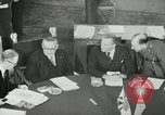 Image of Bevin Byrnes and Molotov Potsdam Germany, 1945, second 25 stock footage video 65675030653