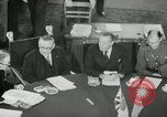 Image of Bevin Byrnes and Molotov Potsdam Germany, 1945, second 28 stock footage video 65675030653