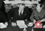 Image of Bevin Byrnes and Molotov Potsdam Germany, 1945, second 51 stock footage video 65675030653