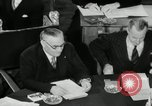 Image of Bevin Byrnes and Molotov Potsdam Germany, 1945, second 58 stock footage video 65675030653