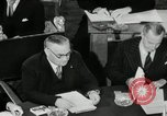 Image of Bevin Byrnes and Molotov Potsdam Germany, 1945, second 59 stock footage video 65675030653