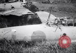 Image of Japanese airfield and planes at Lae destroyed by allied bombers New Guinea, 1943, second 50 stock footage video 65675030887
