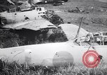 Image of Japanese airfield and planes at Lae destroyed by allied bombers New Guinea, 1943, second 51 stock footage video 65675030887