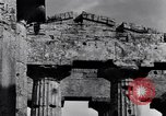 Image of soldiers at Greek temple of Hera World War 2 Paestum Italy, 1943, second 3 stock footage video 65675030900