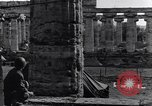 Image of soldiers at Greek temple of Hera World War 2 Paestum Italy, 1943, second 32 stock footage video 65675030900