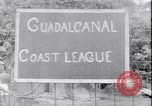 Image of US soldiers baseball match Guadalcanal Solomon Islands, 1943, second 15 stock footage video 65675030932