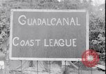 Image of US soldiers baseball match Guadalcanal Solomon Islands, 1943, second 17 stock footage video 65675030932