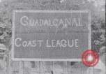 Image of US soldiers baseball match Guadalcanal Solomon Islands, 1943, second 19 stock footage video 65675030932