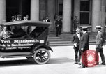 Image of ten millionth Ford motorcade Highland Park Michigan USA, 1924, second 15 stock footage video 65675030955