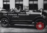Image of 15 millionth Ford Model T Highland Park Michigan USA, 1927, second 38 stock footage video 65675030986