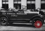 Image of 15 millionth Ford Model T Highland Park Michigan USA, 1927, second 39 stock footage video 65675030986