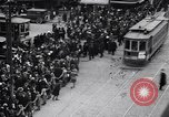 Image of busy intersection United States USA, 1920, second 10 stock footage video 65675031017